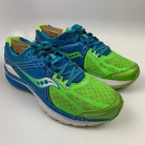 Saucony 9.5 US  Women Athletic Running Shoes Green